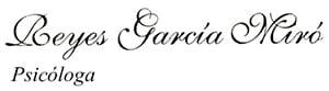Reyes García Miró Psicóloga Logotipo